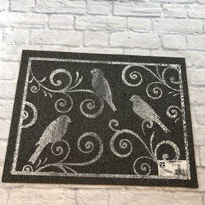 Other - Dark Grey Birds Doormat